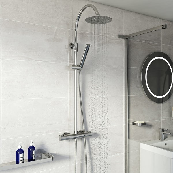 Mode Tate 8mm quadrant shower enclosure with cool touch thermostatic mixer shower