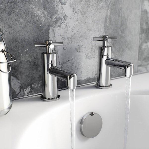 Mode Tate basin mixer and bath tap pack