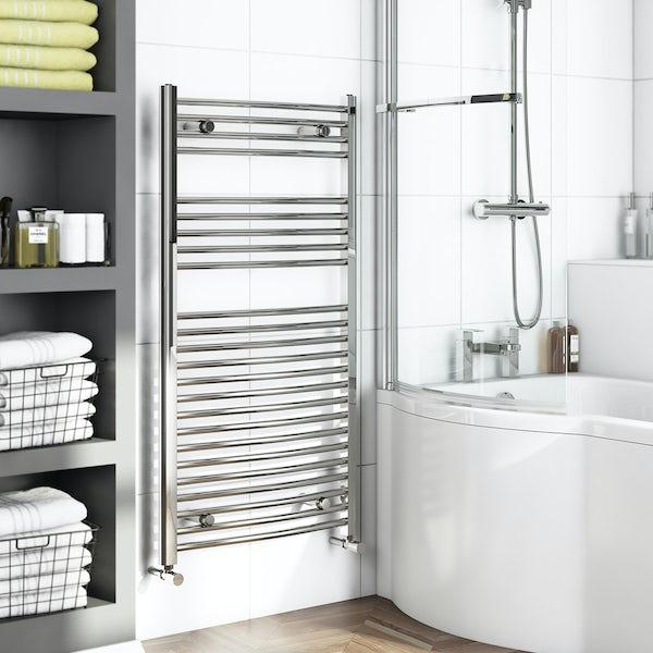 Curved Heated Towel Rail 1150 x 600