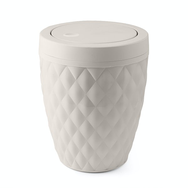 Addis White diamond bathroom bin