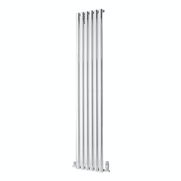 The Heating Co. Alcudia chrome flat panel heated towel rail