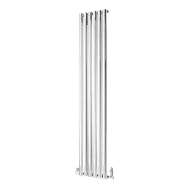The Heating Co. Alcudia chrome flat panel heated towel rail