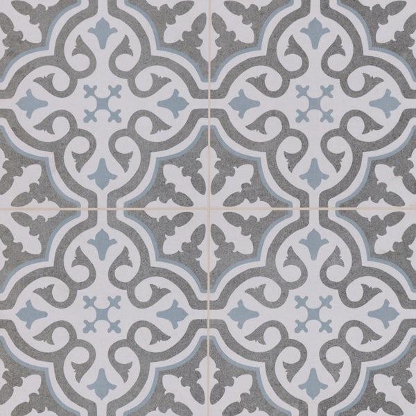 Seville Leya traditional matt wall and floor tile 450mm x 450mm