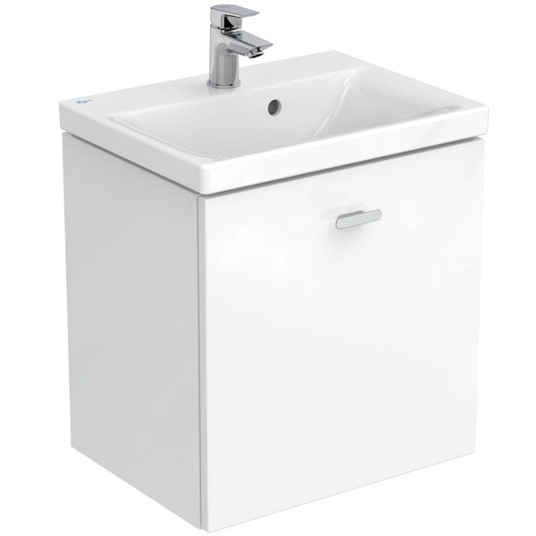 Ideal Standard Concept Space white complete right hand shower bath suite 1700 x 700