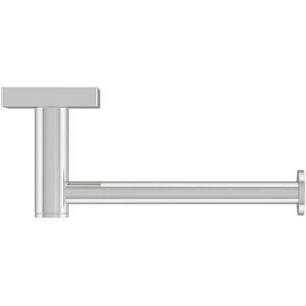 Accents square plate contemporary straight toilet roll holder