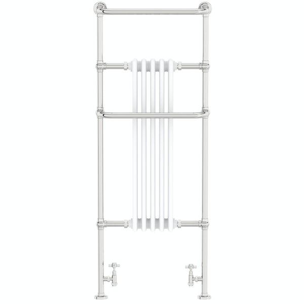 The Heating Co. Santa Fe white traditional radiator 1500 x 599