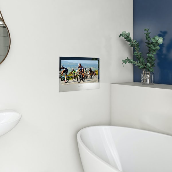 Orchard Wharfe complete freestanding bath suite with ProofVision 19 inch waterproof bathroom TV