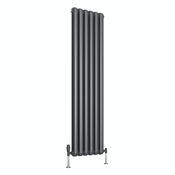 Reina Coneva anthracite grey vertical steel designer radiator