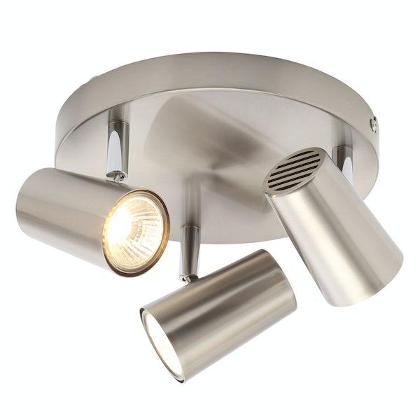 Forum Chara Satin Nickel 3 Light Kitchen Ceiling Light Victoriaplum Com
