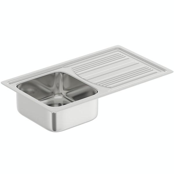 Tuscan Pienza polished 1.0 bowl universal kitchen sink