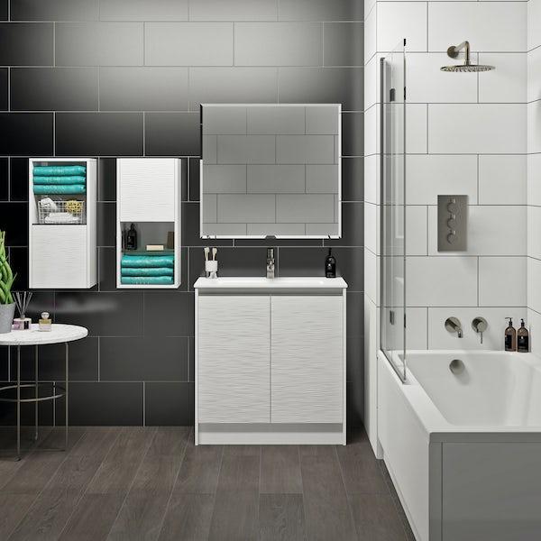Mode Banks matt white vanity unit 800mm