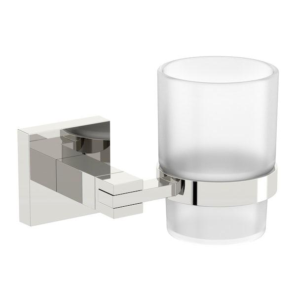Accents square ensuite 5 piece accessory set