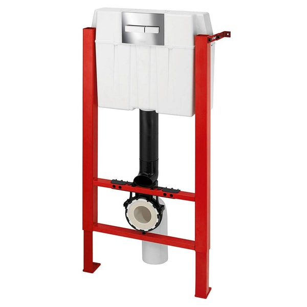 Macdee Wirquin universal wall hung frame inc. square push button cistern