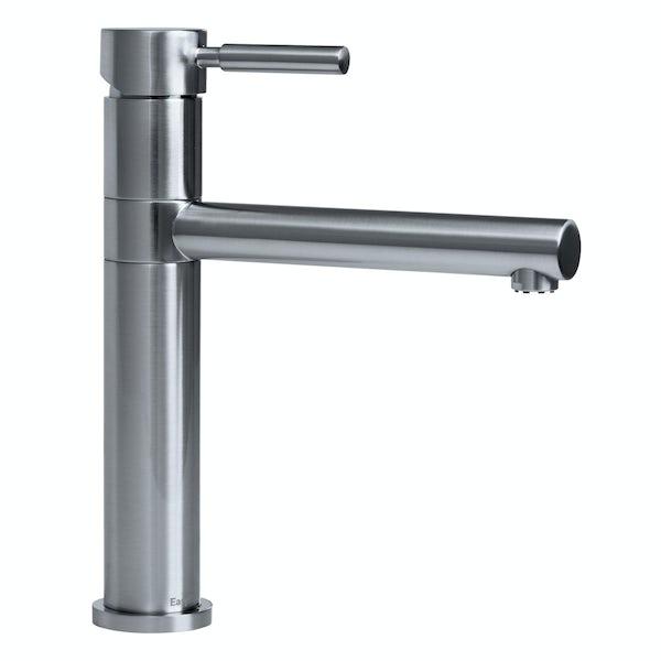 Bristan Vegas brushed nickel easyfit single lever kitchen mixer tap