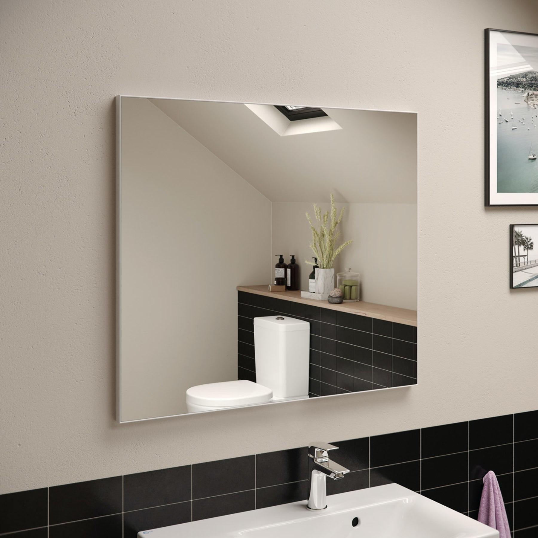 Ideal Standard Framed Bathroom Mirror 800 X 700mm Victoriaplum Com