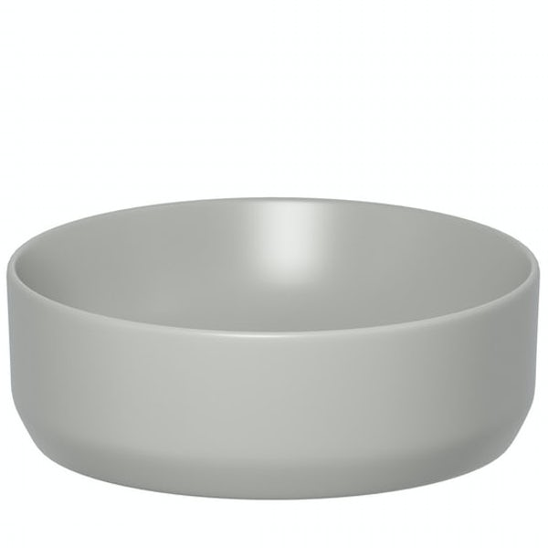 Mode Orion stone grey wall hung toilet and countertop basin suite