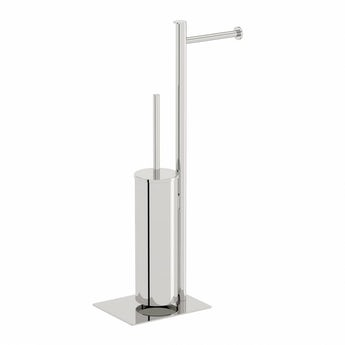 Orchard Options square freestanding stainless steel bathroom butler