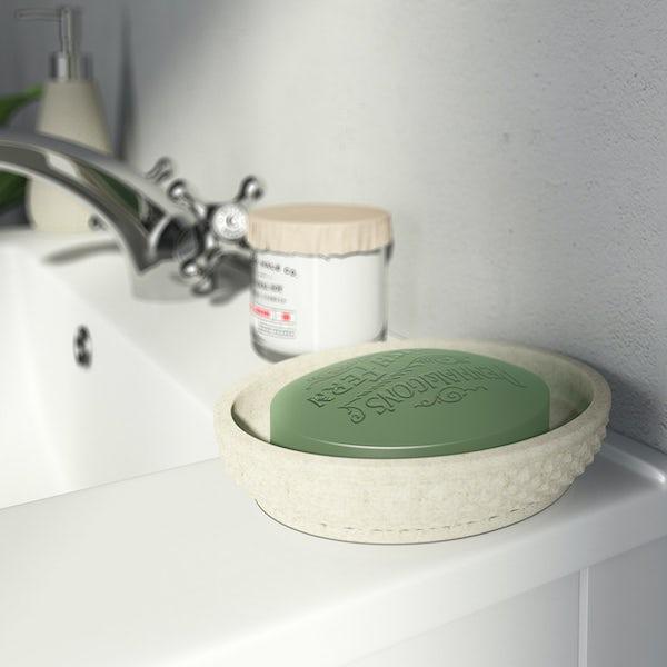 Accents ceramic cream soap dish