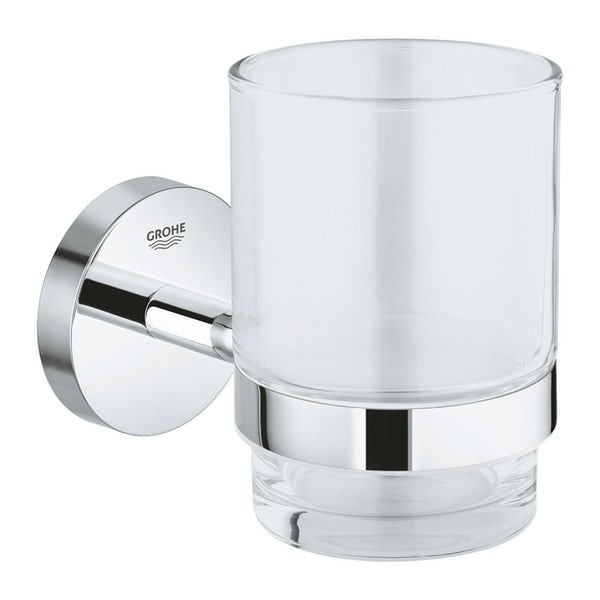 Grohe BauCosmopolitan frosted glass soap holder