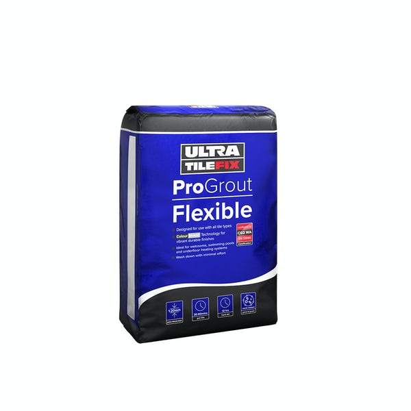UltraTileFix ProGrout Flexible white floor and wall grout 3kg