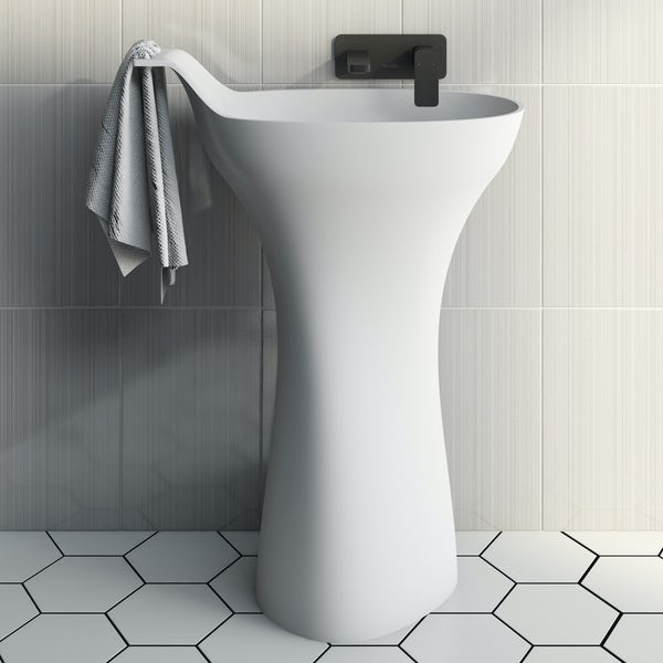 Belle de Louvain Barocci solid surface freestanding basin
