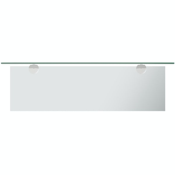 Accents bevelled edge arched mirror with vanity shelf 70 x 50cm