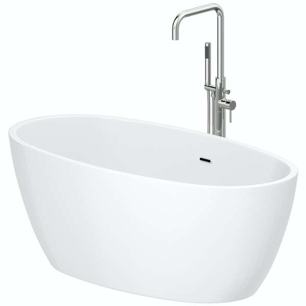 Mode Heath freestanding bath & tap pack with Anderson bath filler