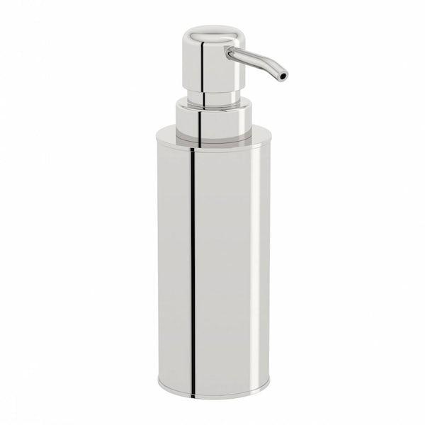 Options Freestanding Slim Stainless Steel Soap Pump Dispenser