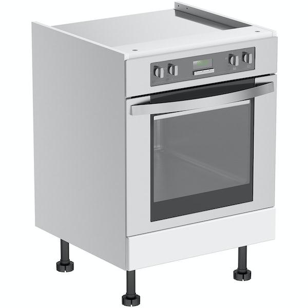 Schon Chicago white slab 600mm built in oven housing