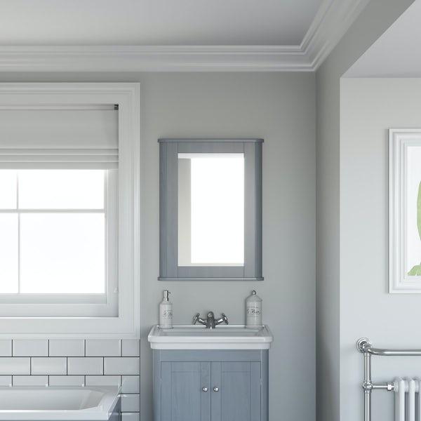 The Bath Co. Beaumont powder blue mirror 780 x 490mm