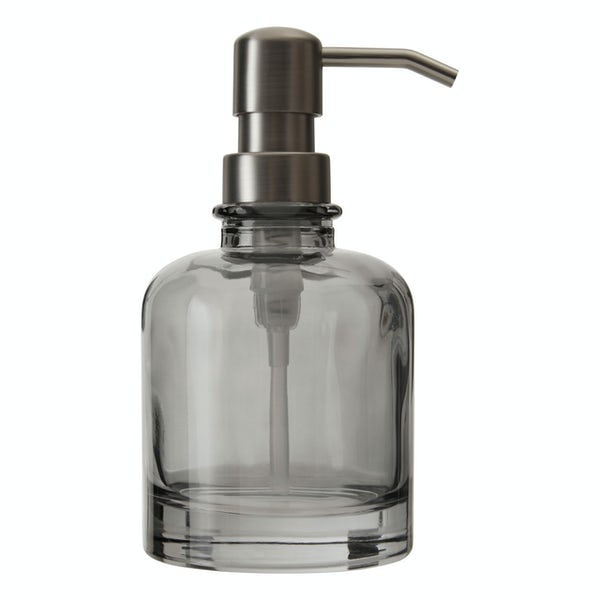 Accents Ridley grey glass small soap dispenser