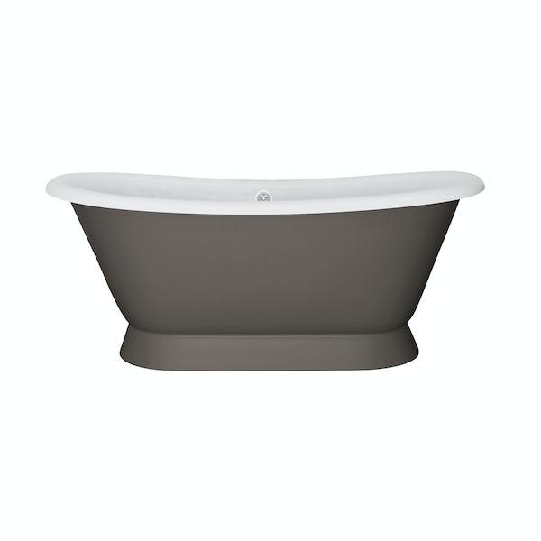 The Bath Co. Stirling keystone grey cast iron bath