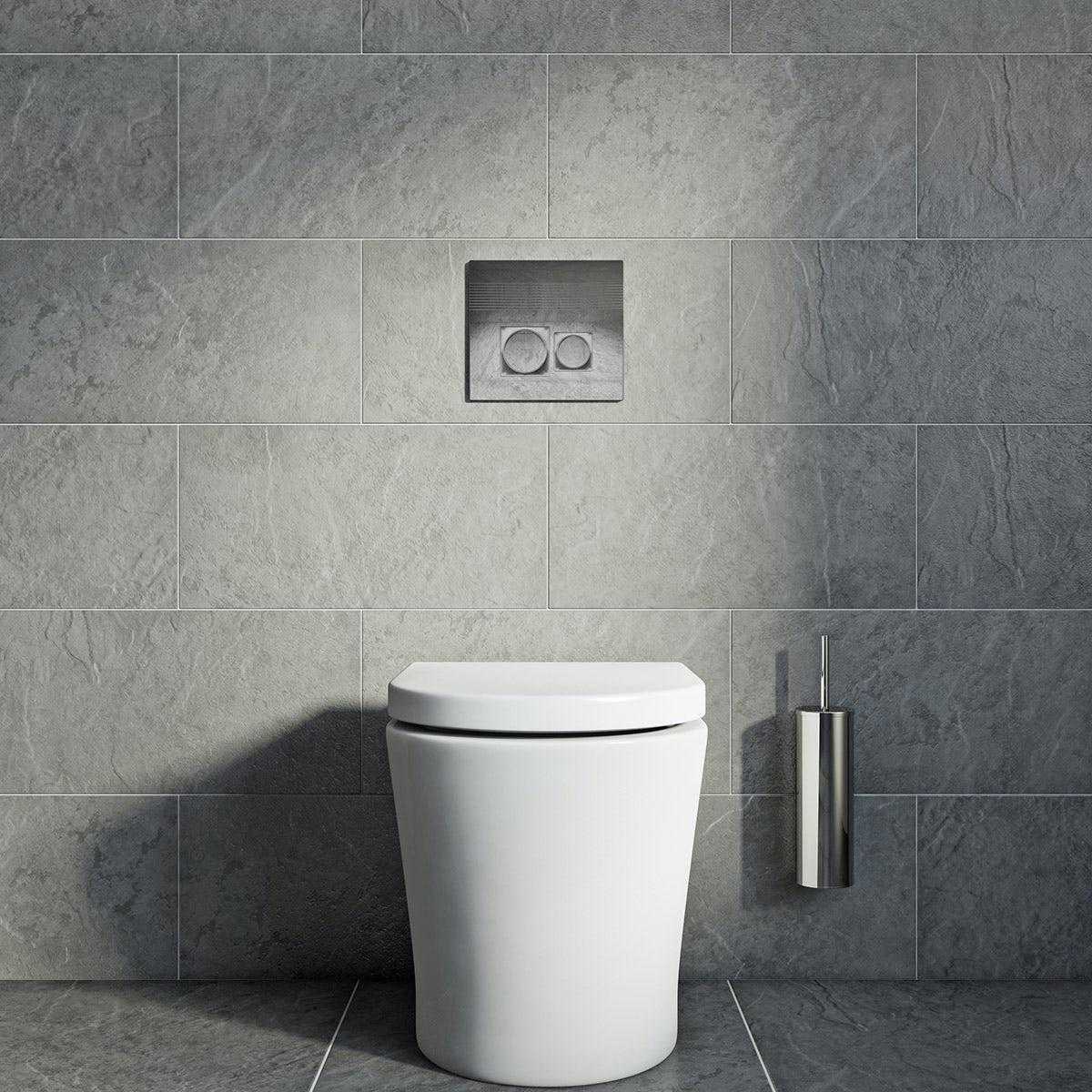 British Ceramic Tile Slate Light Riven Grey Matt Tile