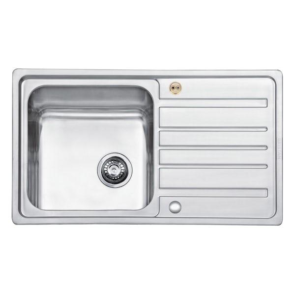 Bristan Index easyfit universal sink 1.0 bowl stainless steel