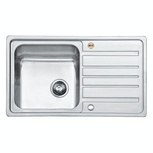 Bristan Index easyfit universal sink 1.0 bowl stainless steel