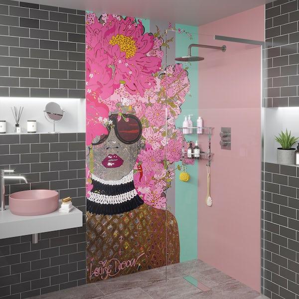Louise Dear Kiss Kiss Bam Bam acrylic shower wall panel 2440 x 1220mm