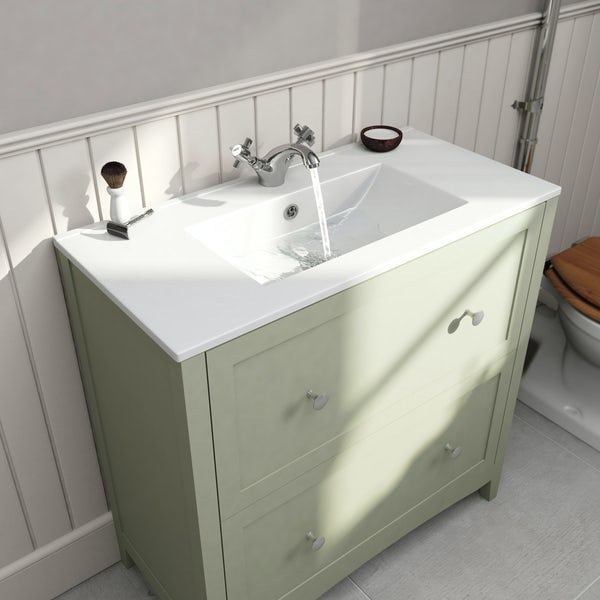 Camberley sage vanity unit with basin 800mm