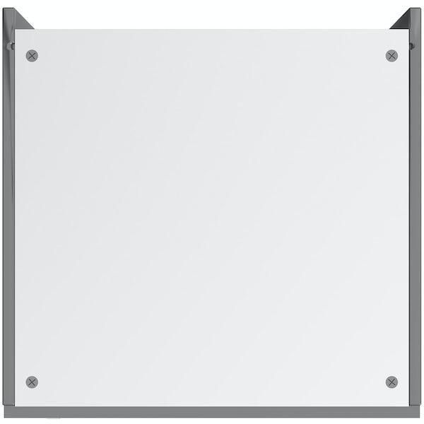 Schon Boston mid grey slab 600mm double oven housing unit