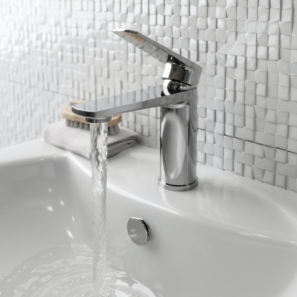 Kirke WRAS Combo basin mixer tap with click clack waste