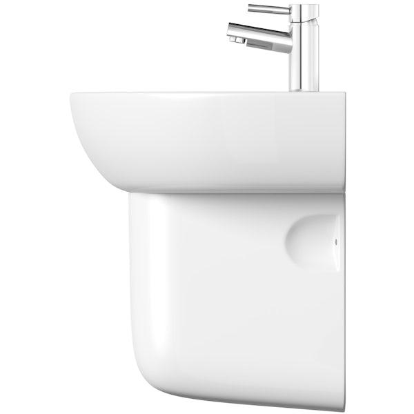 Elena 1 tap hole semi pedestal basin 550mm