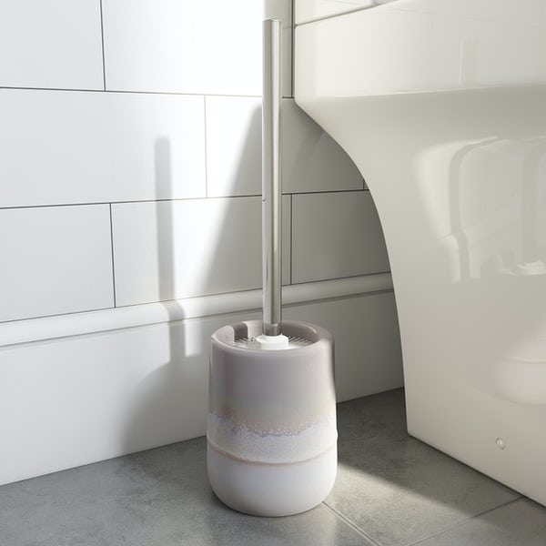 Accents grey ombre toilet brush holder