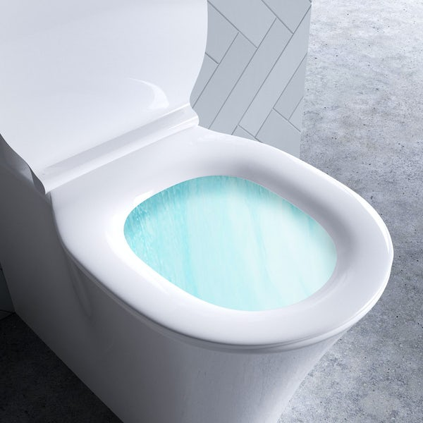 Ideal Standard Concept Air open back close coupled toilet and soft close toilet seat