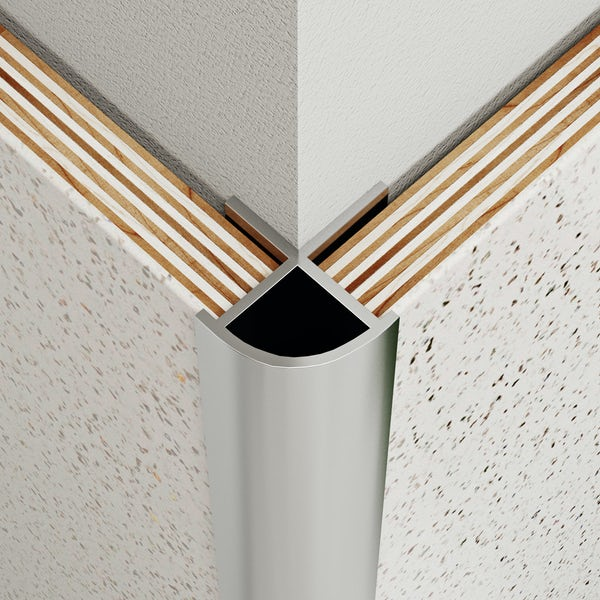 Multipanel Classic type B polished silver external corner profile