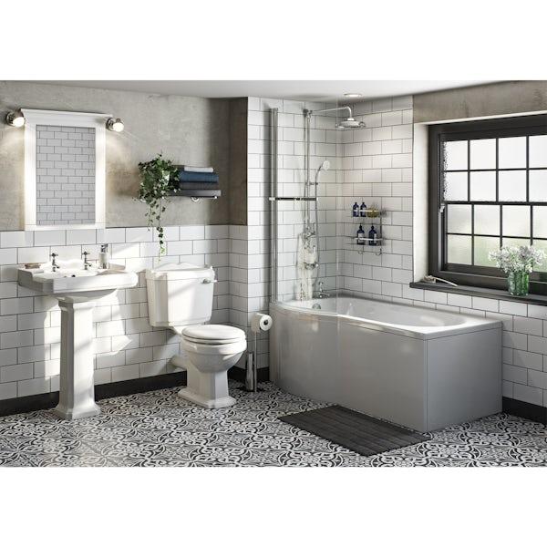 Winchester Bathroom Suite with Evesham 1700 x 850 Shower Bath LH
