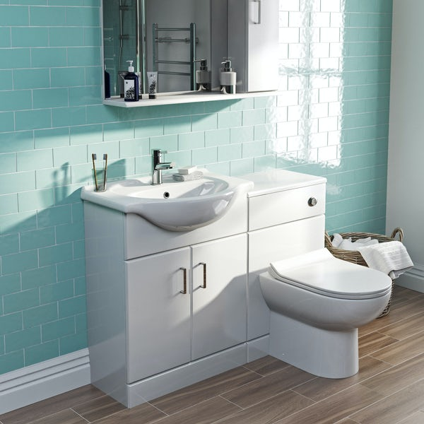 Orchard Eden white 1155mm combination with Eden contemporary back to wall toilet