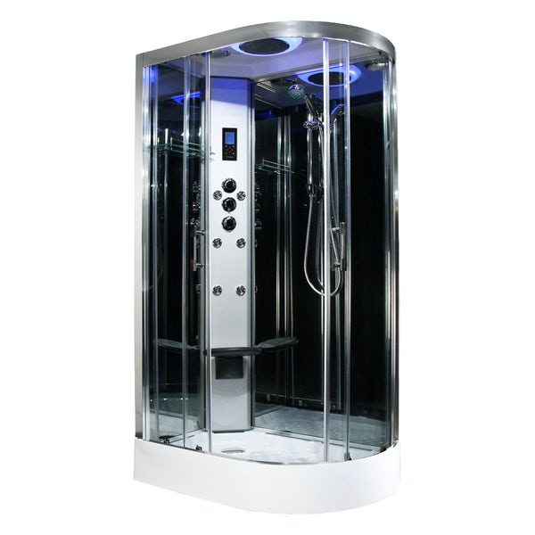 Insignia Premium offset quadrant left handed hydro-massage shower cabin 1100 x 700