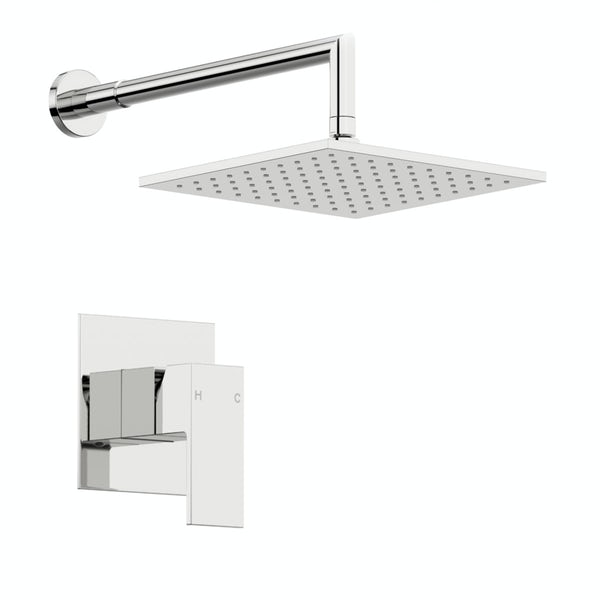 Orchard Square concealed manual mixer shower with 390mm wall arm