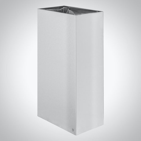 Dolphin commercial stainless steel freestanding or surface mounted bin 24 litres