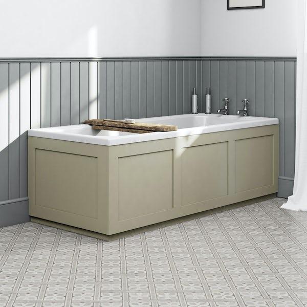 The Bath Co. Camberley satin ivory bath end panel 700mm