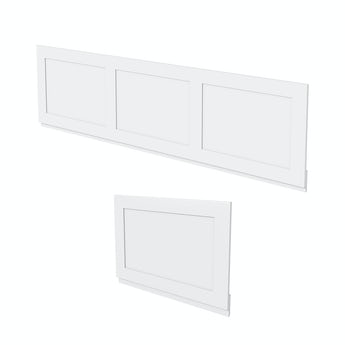 The Bath Co. Camberley white wooden bath panel pack
